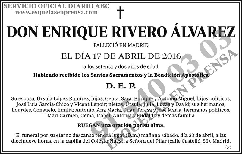 Enrique Rivero Álvarez